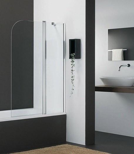 Фото - Шторка для ванны 110 см прозрачное стекло Provex Vario 2001KV28GLR+ шторка для ванны rgw sc 52 80x150 стекло прозрачное