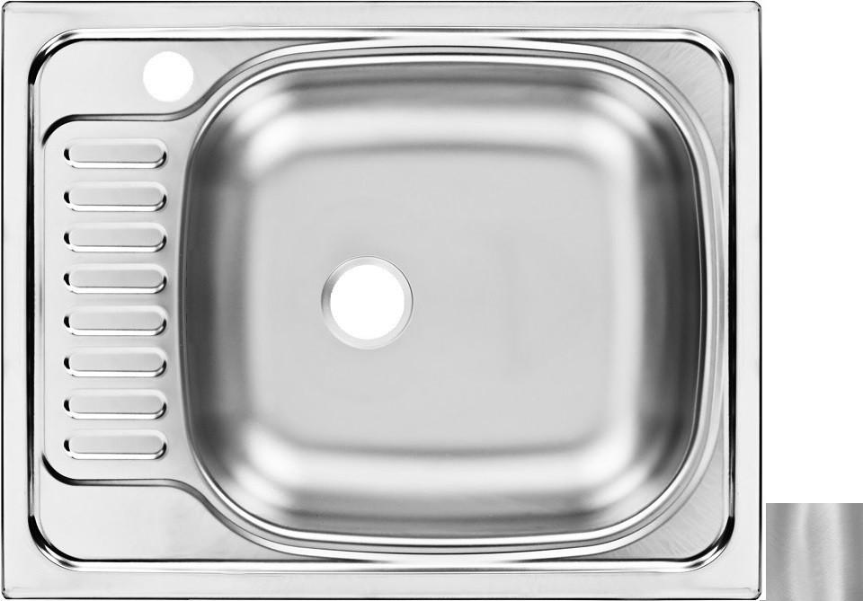 цена на Кухонная мойка матовая сталь Ukinox Классика CLM560.435 ---5K 1R