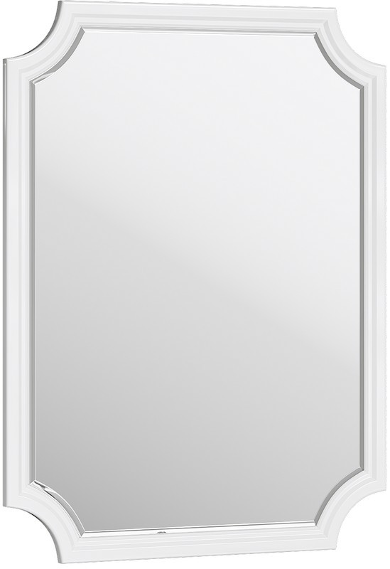 Зеркало 72х95 см белый глянец Aqwella 5 Stars LaDonna LAD0207W