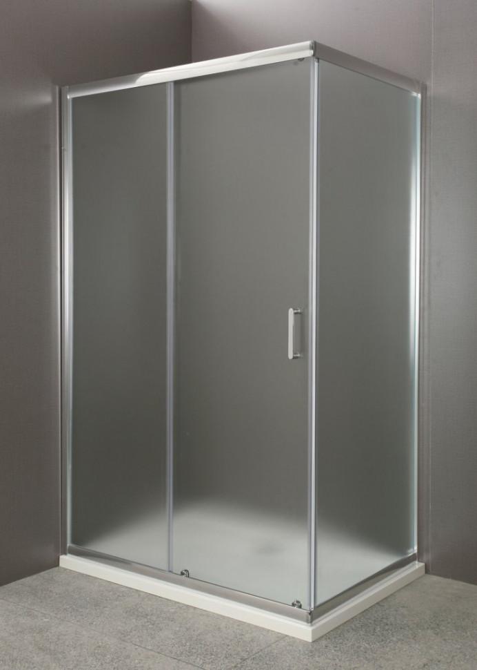 Душевой уголок 100х80 см BelBagno UNO-AH-1-100/80-P-Cr текстурное стекло