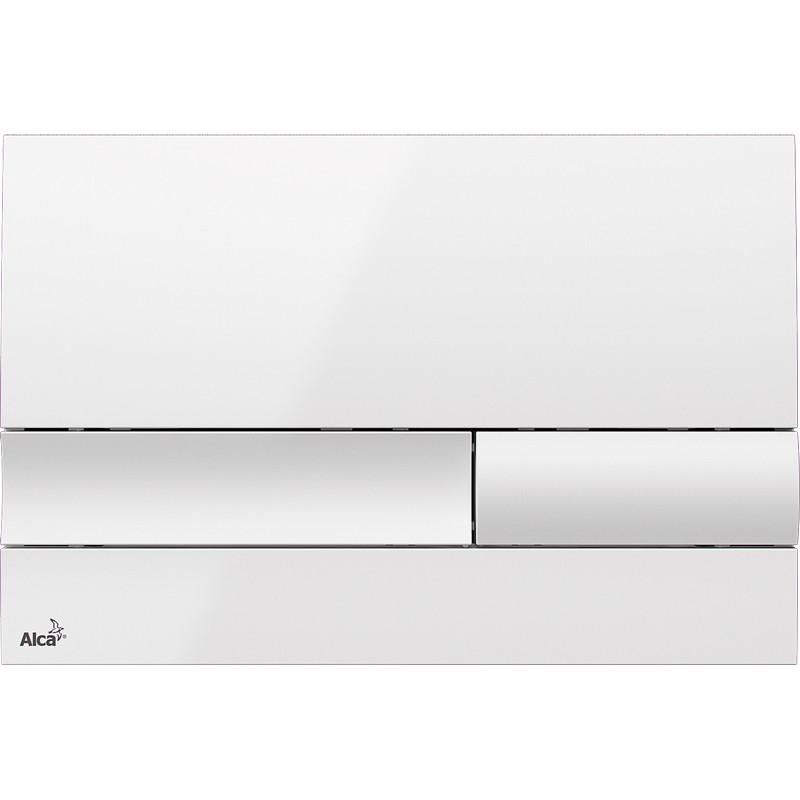 цена на Смывная клавиша белый для двойного смыва AlcaPlast M1730