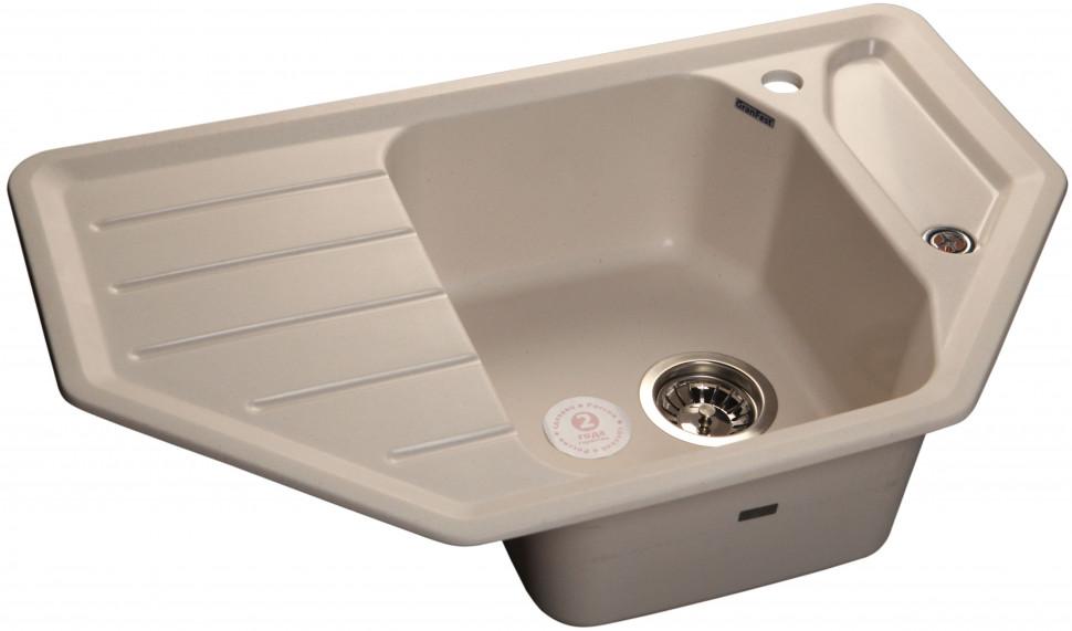 Кухонная мойка белый GranFest Corner GF-C800E мойка кухонная granfest гранит угловая 960x510 gf c960e терракот