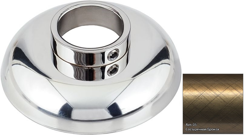 Отражатель декоративный d - 26,9 мм состаренная бронза Сунержа 05-1028-0002