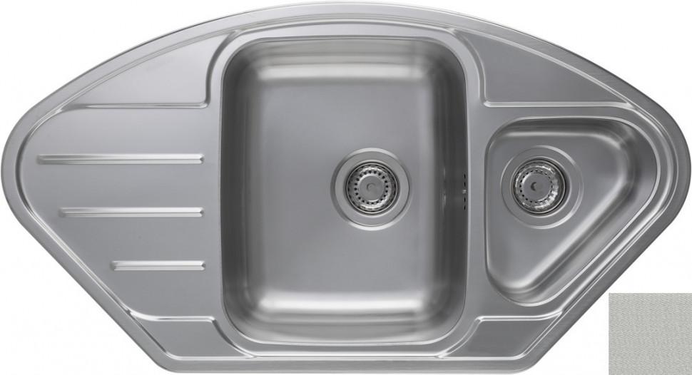 Кухонная мойка декоративная сталь Longran Lotus LTL945.510 15XT8P 2C longran lotus 945 w lin 945x510