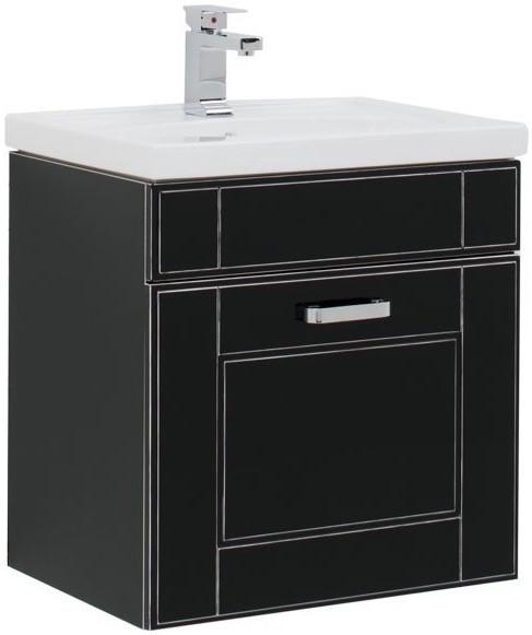 Тумба черный антик 59,8 см Aquanet Рондо 00196779 карнизы и аксессуары для штор liedecor штородержатель магнитный рондо цвет антик