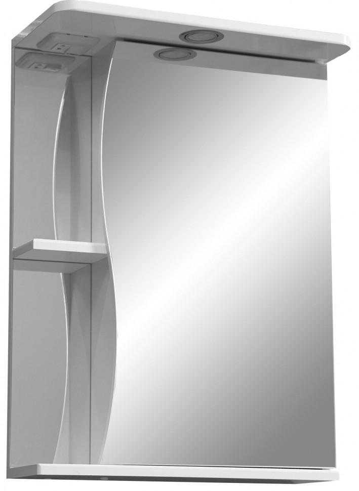 Зеркальный шкаф 55х70 см белый глянец/белый матовый R Stella Polar Верея SP-00000041 диск