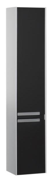 Пенал подвесной белый/черный Aquanet Тиволи 00180068