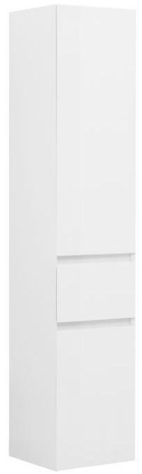 Фото - Пенал подвесной белый глянец R Aquanet Йорк 00202095 комплект мебели для ванной aquanet йорк 60 203642 подвесной белый глянец