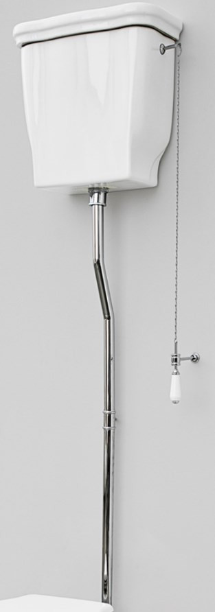 Механизм слива с высокой трубой хром Artceram Hermitage HEA00671cr
