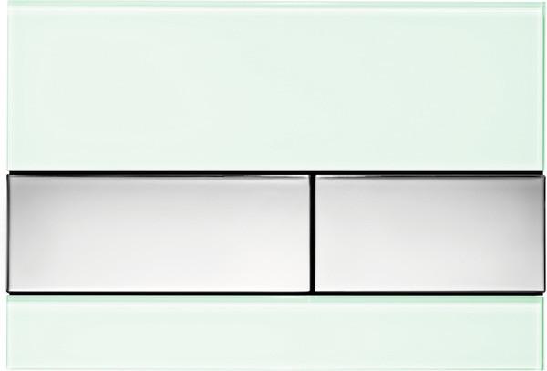 Смывная клавиша Tece TECEsquare мятный зеленый/глянцевый хром 9240805 смывная клавиша двухрежимная глянцевый хром vitra loop r 740 0680