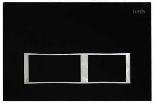 Смывная клавиша черный матовый для двойного смыва IDDIS Unifix UNI61MBI77 клавиша смыва универсальная матовый черный iddis unifix uni31mbi77