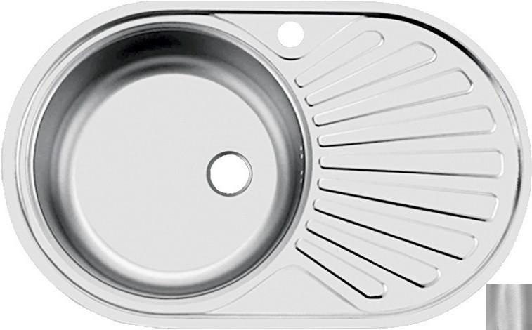 Кухонная мойка матовая сталь Ukinox Фаворит FAD760.470 --T6K 2L кухонная мойка декоративная сталь ukinox фаворит fal577 447 gt6k 2l
