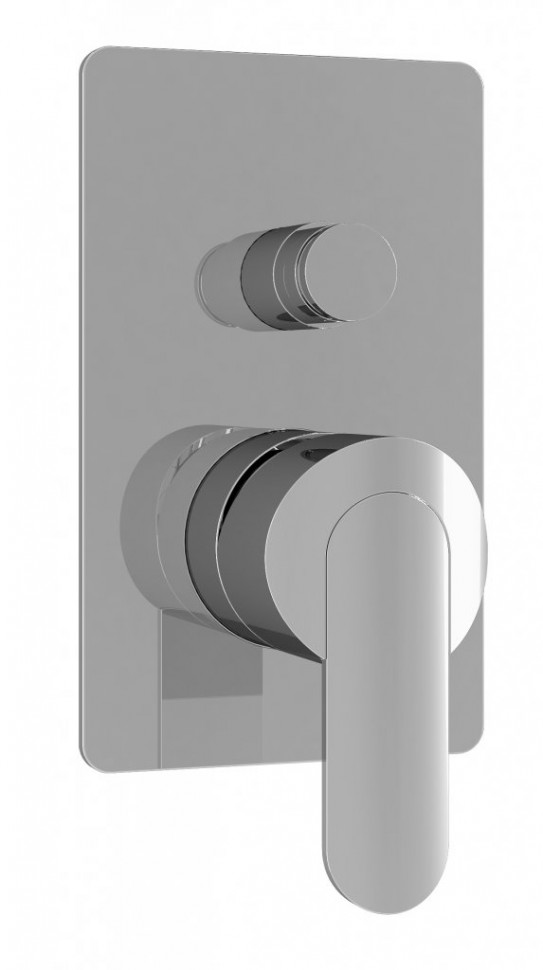лучшая цена Встраиваемый смеситель для ванны хром, ручка хром Cezares Garda GARDA-VDIM-01-Cr