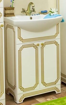 Тумба белый золотая патина 55 см Sanflor Каир H0000000215