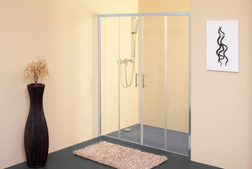 Душевая дверь 140 см Kolpa San Q line TV/4D прозрачное