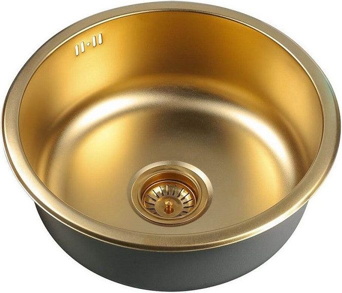 Кухонная мойка Zorg Inox PVD SZR 450 BRONZE мойка кухонная zorg inox glass 600x510 gl 6051 white bronze