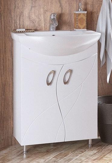 Тумба белый глянец 55 см Corozo Наина SD-00000320