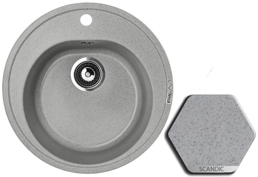 Кухонная мойка SCANDIC Lava R2.SCA цена и фото