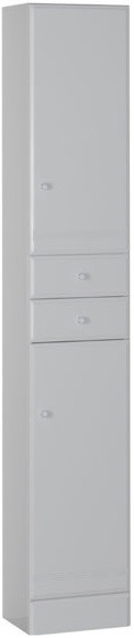 Пенал напольный белый Aquanet Марсель 00101160 шкаф пенал aquanet марсель а 102 101160