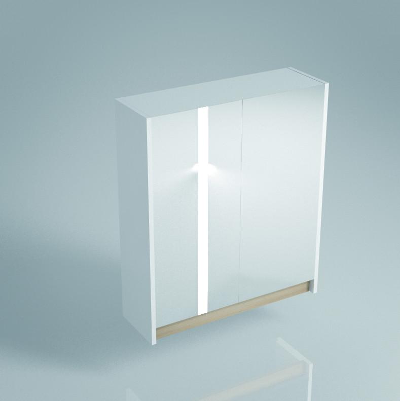 Зеркальный шкаф 60х75 см белый глянец Kerama Marazzi Buongiorno BG.mi.60.2WHT kerama marazzi мармион mm6268b серый 25x40