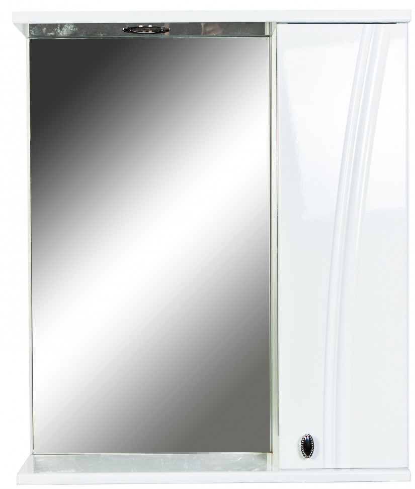 Зеркальный шкаф 60х71 см белый глянец Orange Лотос Lo-60ZS зеркальный шкаф orange classic 85 белый