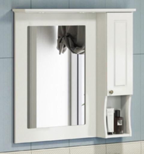 Зеркальный шкаф 89х86 см слоновая кость Comforty Палермо 00004137098 цена