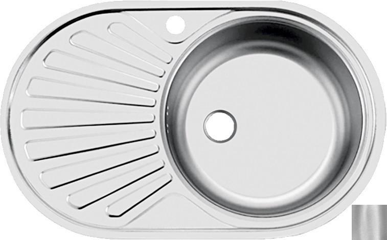 цена на Кухонная мойка матовая сталь Ukinox Фаворит FAD760.470 -GT6K 1R