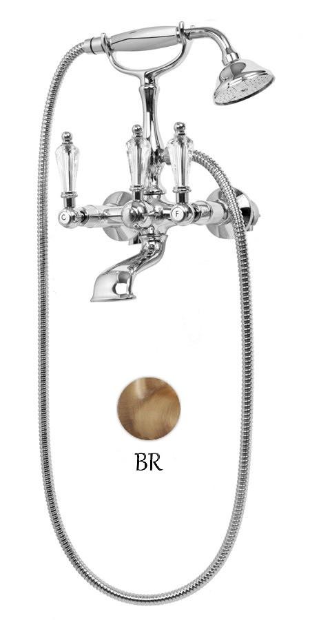 Смеситель для ванны с ручным душем бронза, ручки Swarovski Cezares Diamond DIAMOND-VD-02-Sw цена