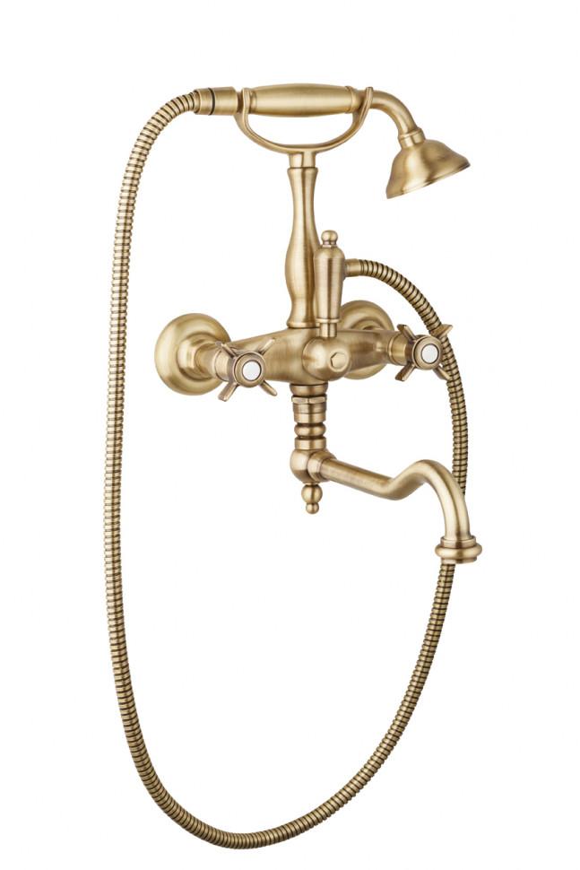 Смеситель для ванны с поворотным изливом бронза Cezares Lord LORD-VDF-02 цена и фото