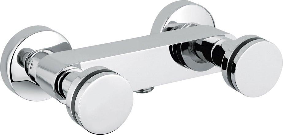 Смеситель для душа хром с ручным душем, ручки хром Cezares Flat FLAT-DS-01 micoe смеситель для душа для ванной комнаты термостатический клапан с квадратным 8 дюймовым душем и ручным душем m a10326 1d