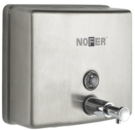 Диспенсер для мыла 1200 мл матовый хром Nofer Inox 03004.S диспенсер для мыла 2000 мл nofer basic 03019 w