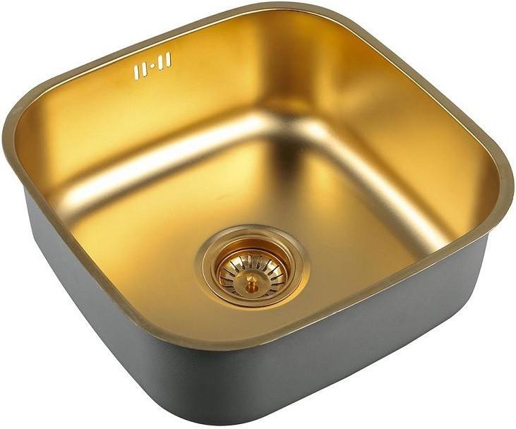 Кухонная мойка Zorg Inox PVD SZR 4040 BRONZE мойка кухонная zorg inox glass 600x510 gl 6051 white bronze