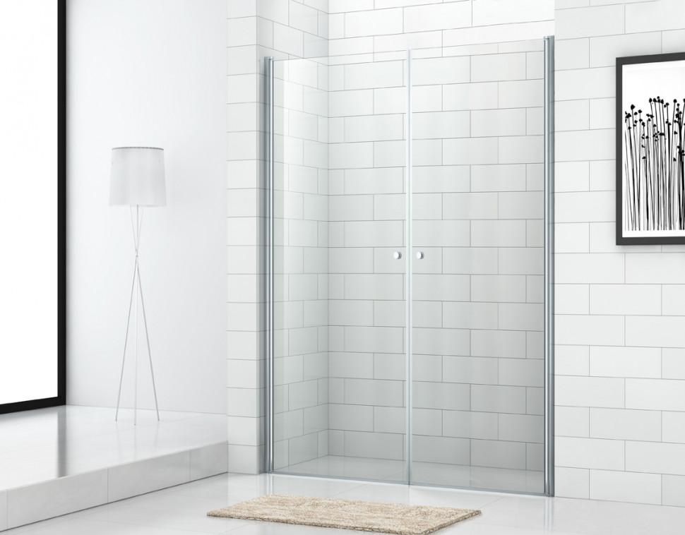 Душевая дверь распашная Cezares Eco 90 см текстурное стекло ECO-O-B-2-90-P-Cr душевая дверь распашная cezares eco 90 см прозрачное стекло eco o b 2 90 c cr