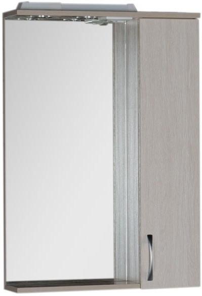 Зеркальный шкаф 60х87 см с подсветкой светлый дуб Aquanet Донна 00168928