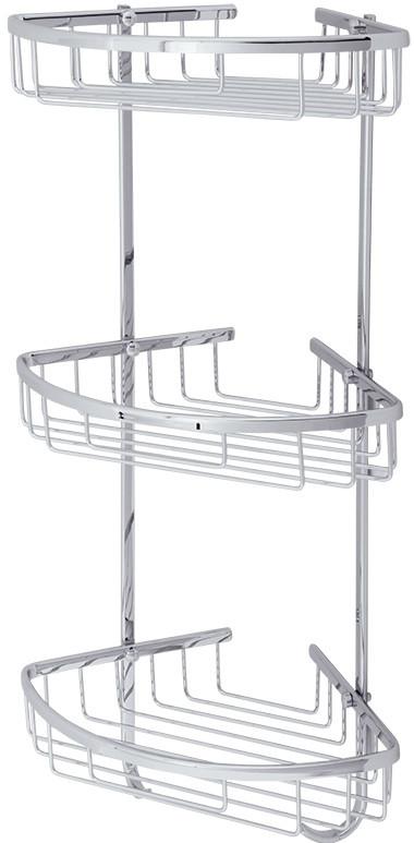 Полка угловая 21х21 см Veragio Baskets Cromo VR.GFT-9067.CR цена и фото