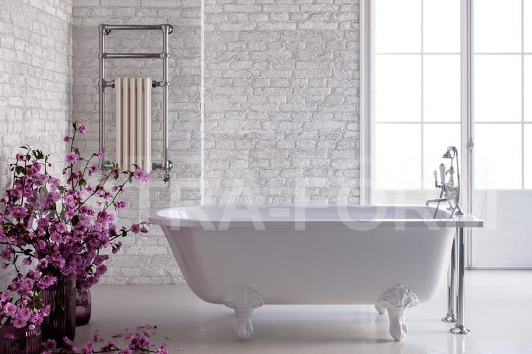 Ванна из литого мрамора белые ноги 170х75 см Astra-Form Ретро 010144