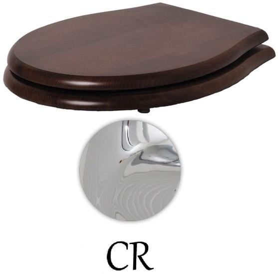 Сиденье для унитаза с микролифтом орех/хром Azzurra Giunone-Jubilaeum 1800NM/F noce/cr механизм двойного слива хром azzurra b19002f 40 cr