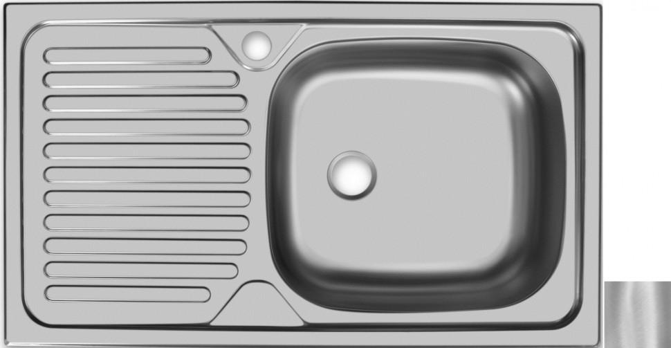 цена на Кухонная мойка матовая сталь Ukinox Классика CLM760.435 ---5K 1R