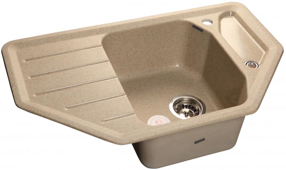 Кухонная мойка песочный GranFest Corner GF-C800E цена
