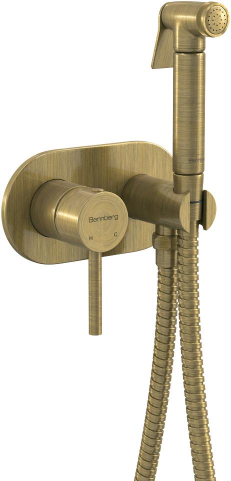 Встраиваемый смеситель с гигиеническим душем Bennberg 18K113 BRONZE