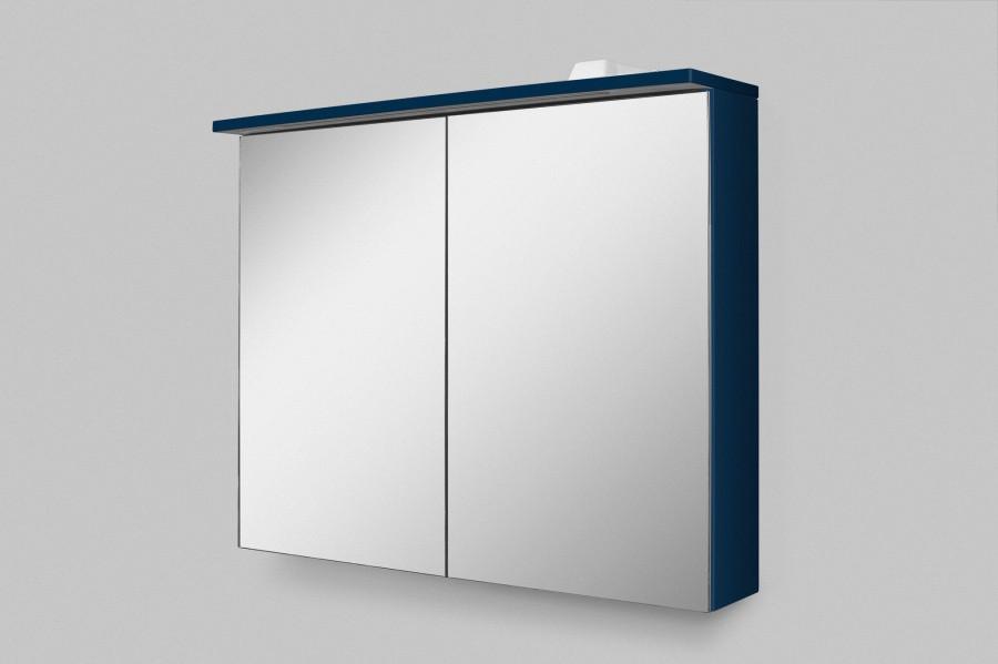 Зеркальный шкаф 80х68 см глубокий синий матовый Am.Pm Spirit V2.0 M70AMCX0801DM