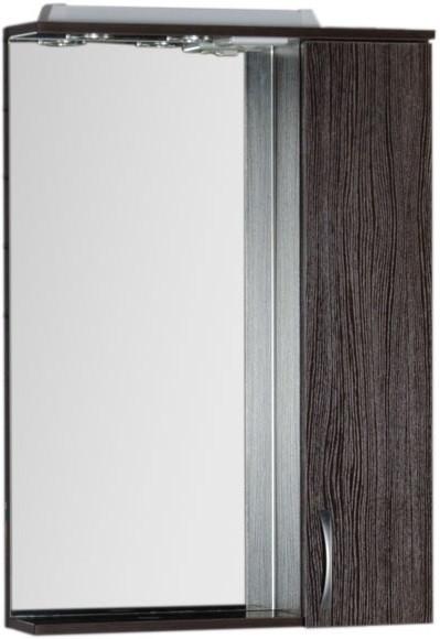 Зеркальный шкаф 60х87 см с подсветкой венге Aquanet Донна 00168938 зеркало шкаф aquanet донна 100 венге 169185