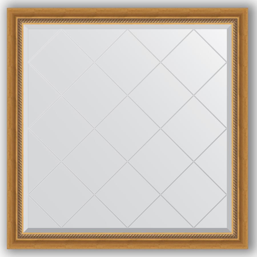 Зеркало 103х103 см состаренное золото с плетением Evoform Exclusive-G BY 4432