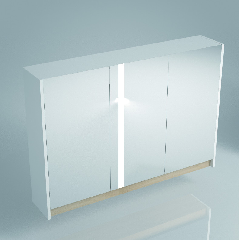 все цены на Зеркальный шкаф 100х75 см белый глянец Kerama Marazzi Buongiorno BG.mi.100.2WHT онлайн