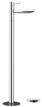 Смеситель напольный для раковины с донным клапаном Remer Minimal N18 фото