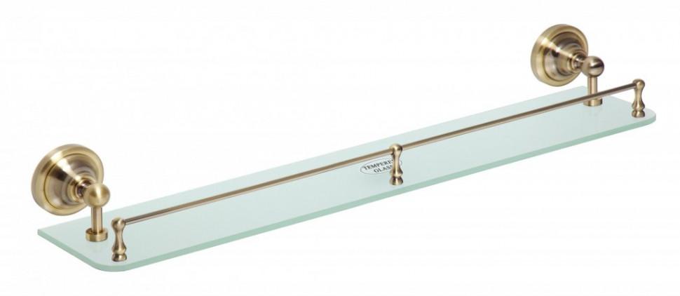 Полка стеклянная 60 см Bemeta Retro 144102267 полка стеклянная bemeta retro 144102267