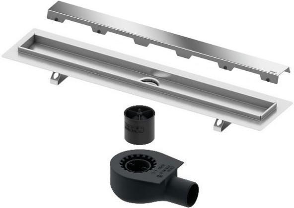 цена Душевой канал 1143 мм хром Tece TECEdrainline steel II 601200 + 650000 + 660016 + 601282