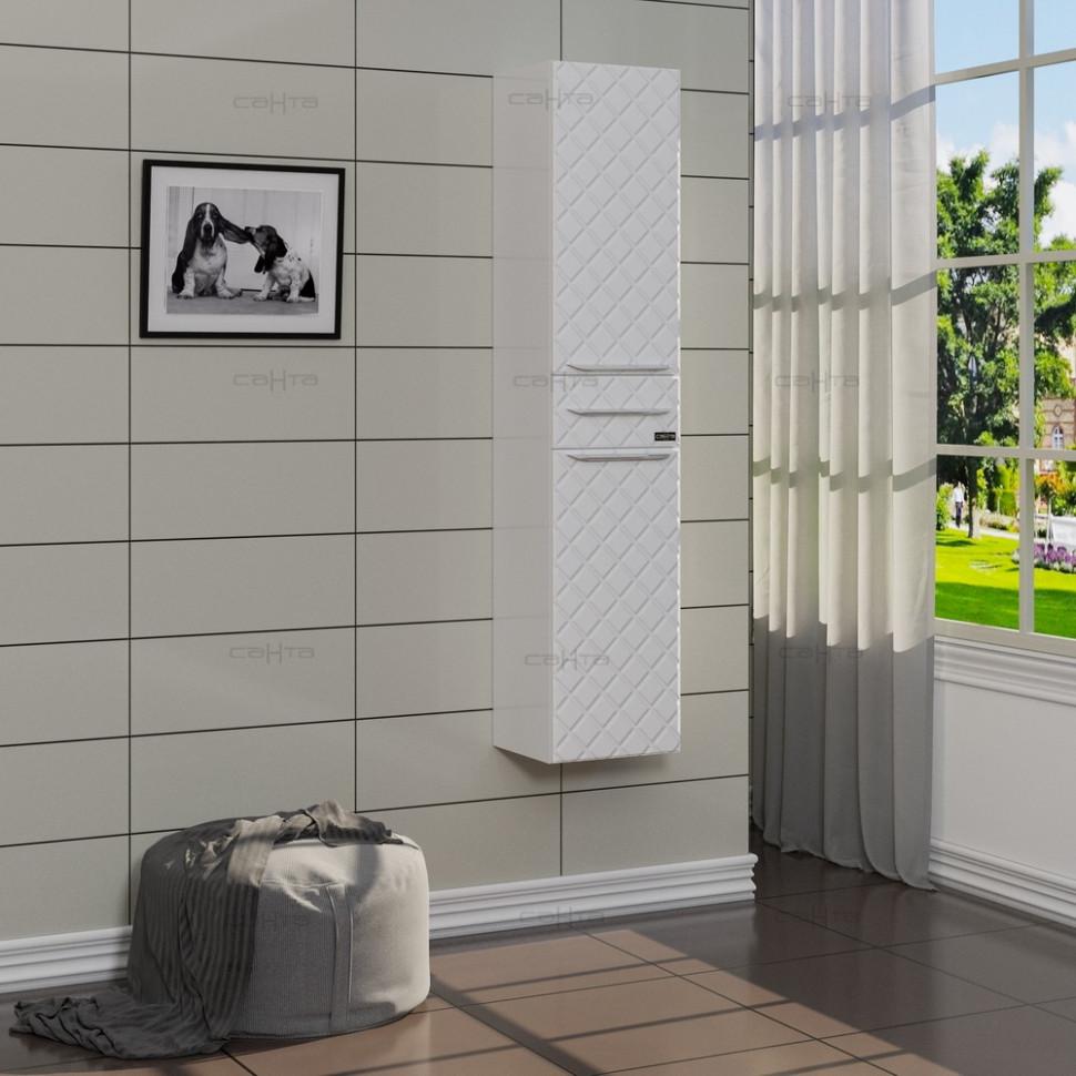 Пенал подвесной белый глянец Санта Калипсо 517002 недорго, оригинальная цена