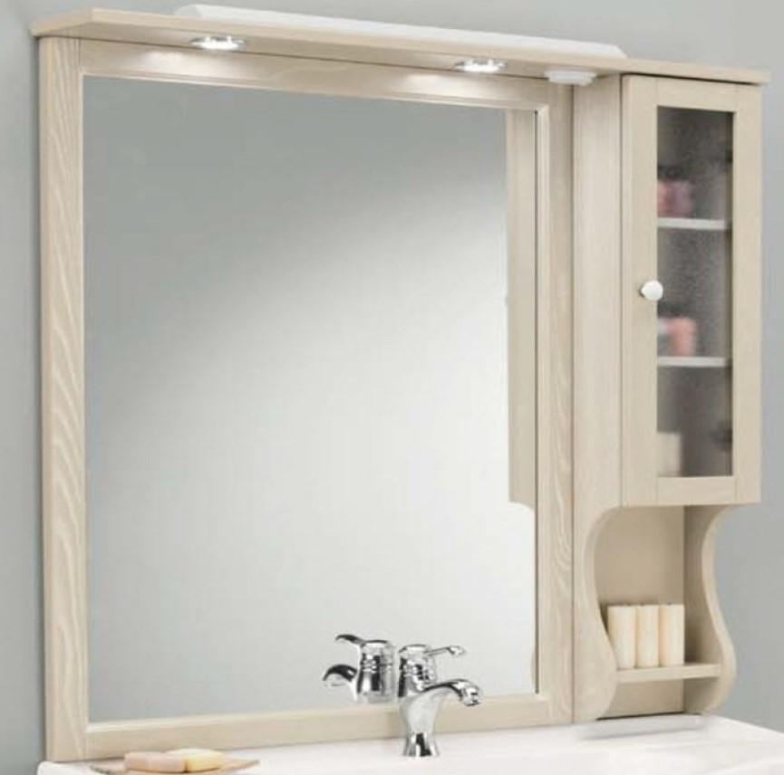 Зеркальный шкаф 102х104 см пергамон Eban Singolo DX FCPLS102DPGpergam*1 раковина 82х52 см eban amerina82 fplfl082b 1