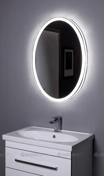 Зеркало с подсветкой 70х85 см Aquanet Комо 00196668 зеркало 70х85 см smile арабеска z0000009897